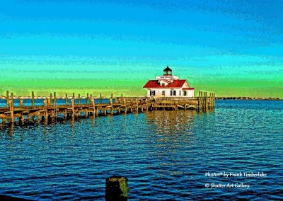 Lighthouse in Manteo Harbour